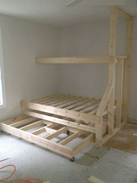 Built In Bunk Bed Plans Bunk Bed Construction Day 1