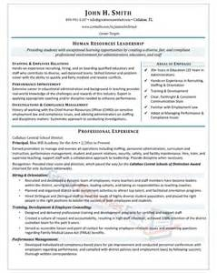 Leadership Resume Executive Resume Sles Professional Resume Sles
