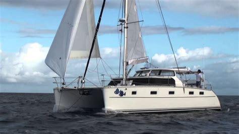 catamaran without sails antares catamaran sailing with screecher youtube