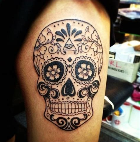 sugar skull tattoo diamond eyes meaning 40 sugar skull tattoo meaning designs