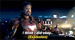 Gifs tony stark iron man 2 marveledit marvel yeah okay bye