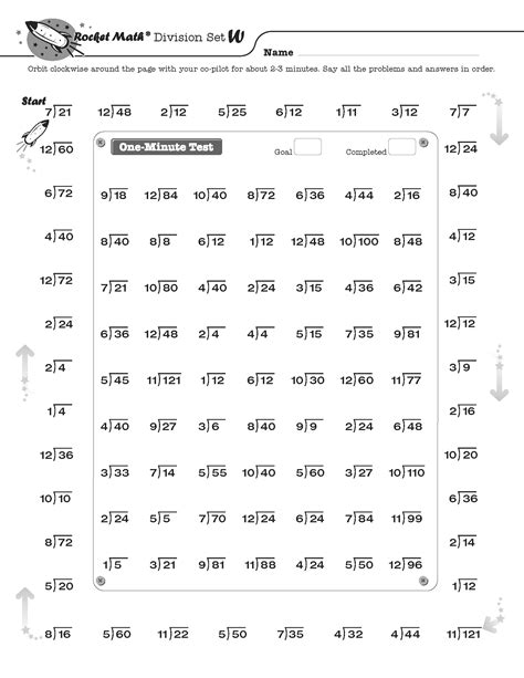 Rocket Math Addition Printable Worksheets