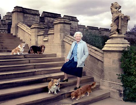 queen elizabeth s dog queen elizabeth ii poses with grandkids for 90th birthday