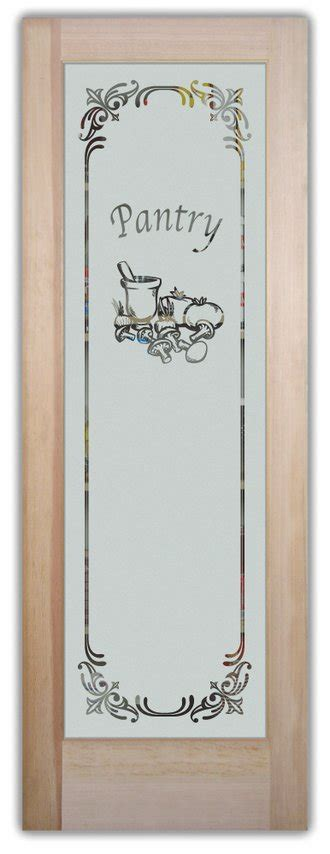 Etched Pantry Door by Pantry Door Page 6 Of 7 Sans Soucie Glass