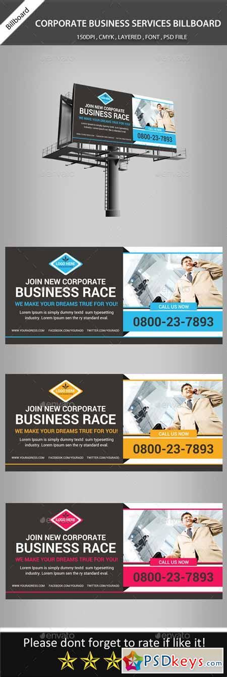 banner template psd corporate business billboard banner psd template 11298127