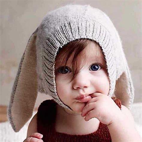 Topi Bayi 5 In 1 topi kupluk bayi lucu model bunny ear gray jakartanotebook
