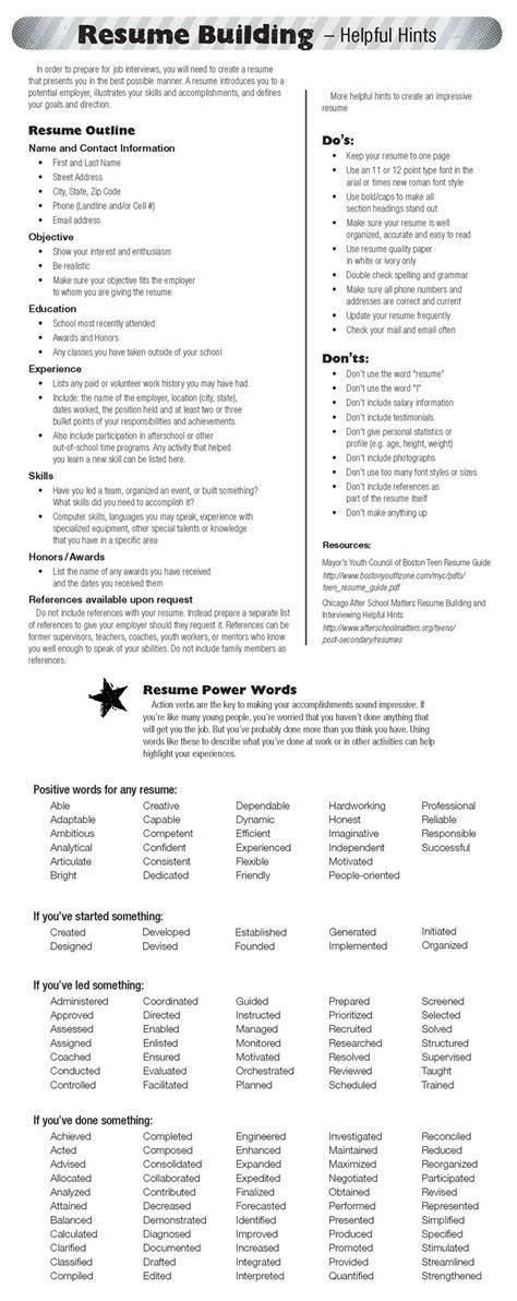 resume generator free read write think