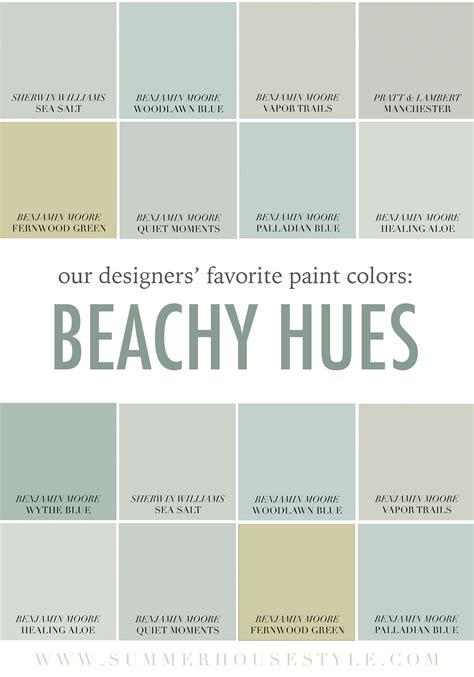 best interior paint colors for coastal homes the best beachy paint colors picked by the interior