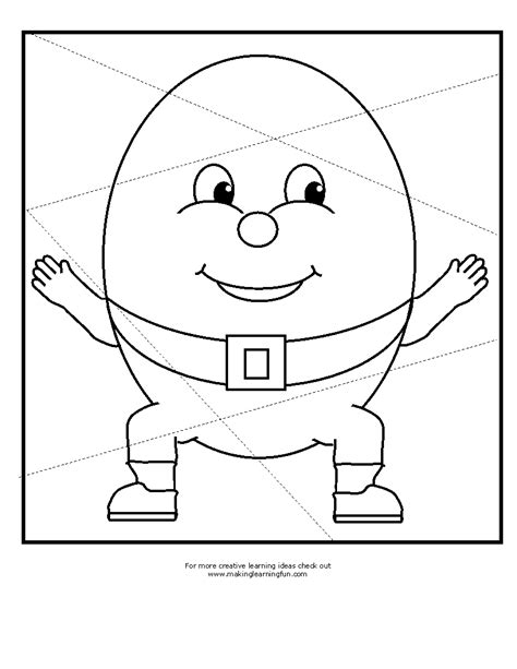free coloring pages of humpty dumpty shapes