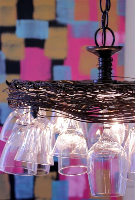 diy wine glass chandelier 9 amazing decoration ideas using wine glasses