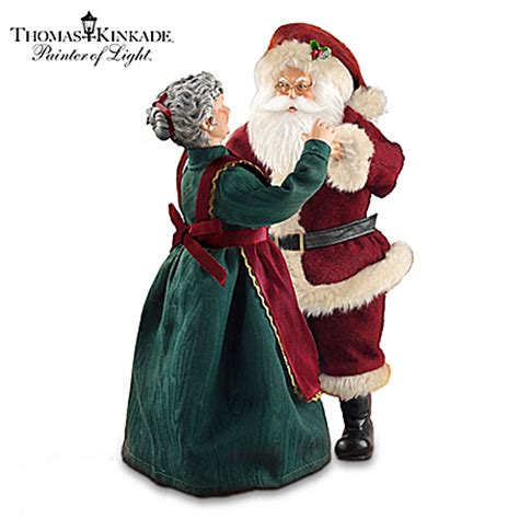thomas kinkade musical santa claus christmas figurine