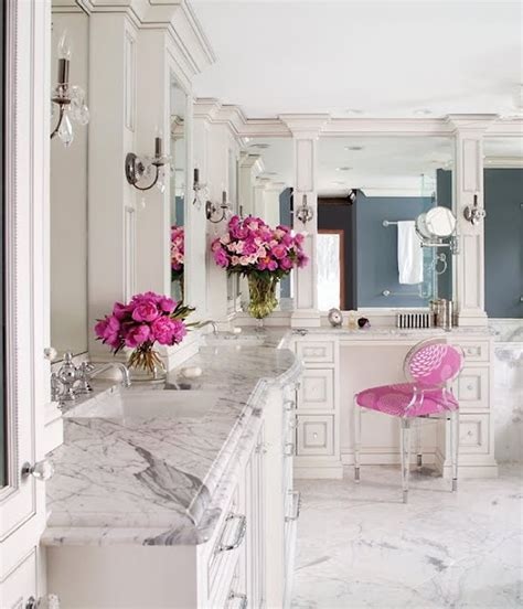 beautiful and luxury bathroom with marble stone