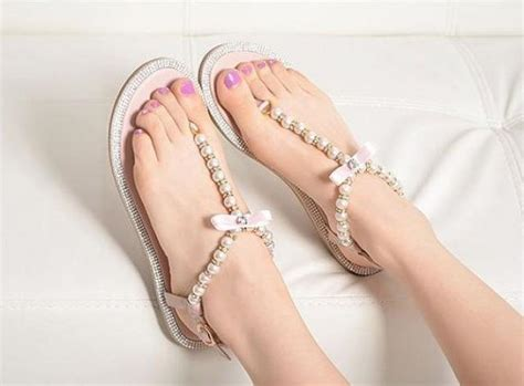 pearl wedding sandals wedding shoes pearl flip flop ivory pearl sandals