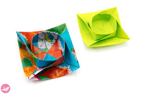 Twisted Origami - twisted origami box bowl tutorial paper kawaii