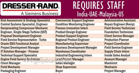 Dresser Rand Uae by Driver Vacancies In Malaysia Dizijobs