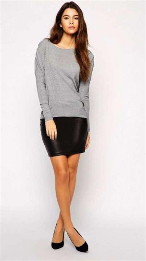 minifaldas de cuero minifaldas de cuero de imitaci 243 n fotos de los modelos