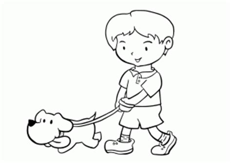 walking dog coloring page the importance of walking your dog on a leash collar planet