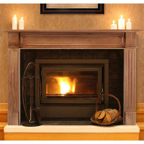 Wooden Fireplace Surround by Pearl Mantels Alamo Wood Fireplace Mantel Surround
