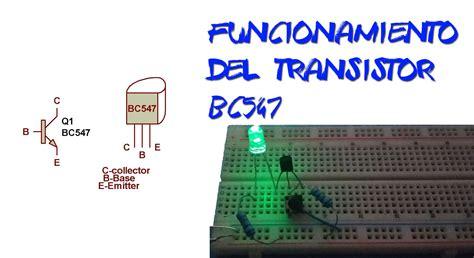 transistor npn bc547 caracteristicas transistor bc547 cicuito en protoboard ing sistemas tv