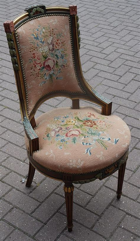 carved wood chair antique a lovely antique carved wood polychrome chair with floral