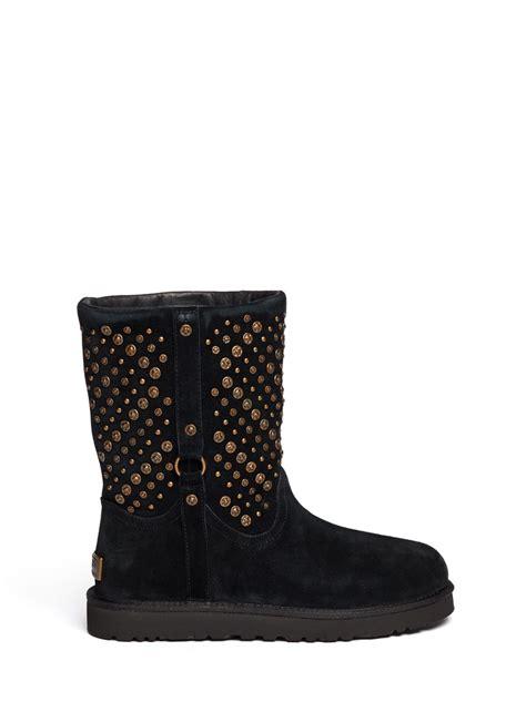 ugg elliott studded boots in black lyst