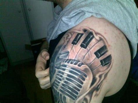 microphone key tattoo microphone tattoos