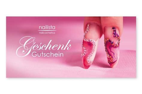 Nagel Gutschein by Nagelstudio Geschenk Gutscheine 10 St 252 Ck