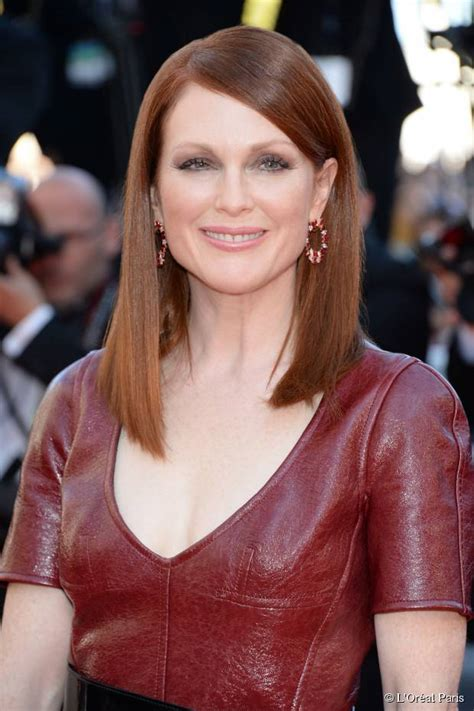 julianne moore long angled bob julianne moore inspired hairstyles for women in their 50s