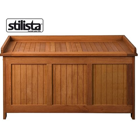 storage trunk bench stilista fsc hardwood garden chest seat trunk storage