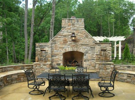 how to build an outdoor fireplace casual cottage