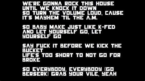 eminem berzerk lyrics eminem berzerk lyrics youtube