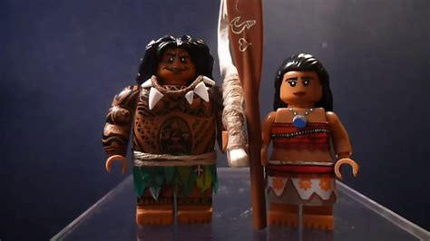 custom lego disney s moana minifigures moana and