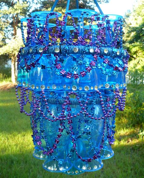 Outdoor Chandelier Diy Make A Plastic Stemware Outdoor Chandelier 187 Dollar Store Crafts