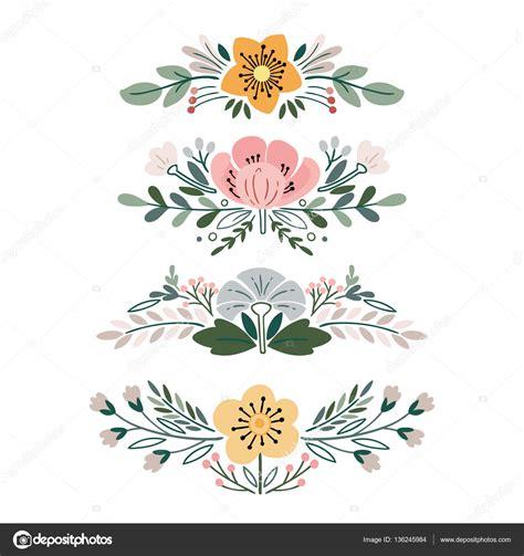 imagenes retro vector vector con ramos de flores vintage archivo im 225 genes