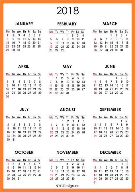 printable year calendar 2017 and 2018 calendar august 2018 printable year calendar free 2017