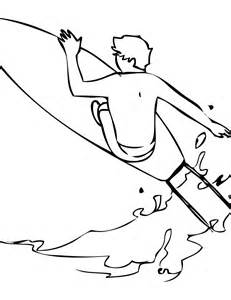 Surfing Coloring Pages sketch template