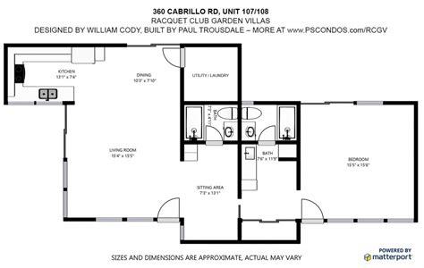 club villas floor plan architectural condos for sale in palm springs ca