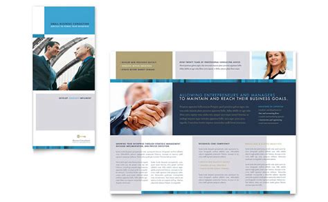 custom brochure templates small business consulting tri fold brochure template design