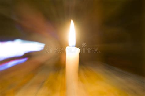 Candle Lighting Times In Las Vegas by A Lone Candle Lights The Room Stock Photo Image Of