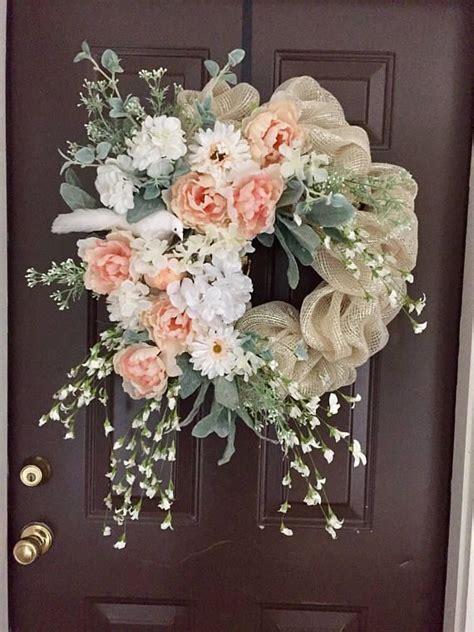beautiful cream deco mesh wreath   white bird