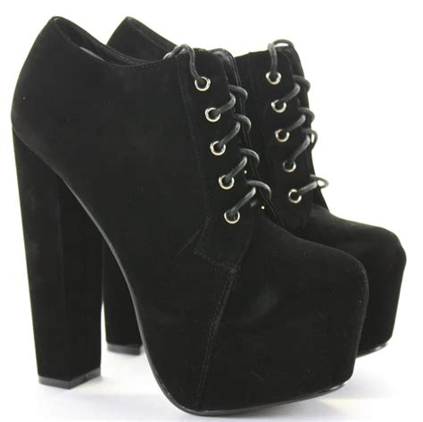 black high heel ankle boots boot yc