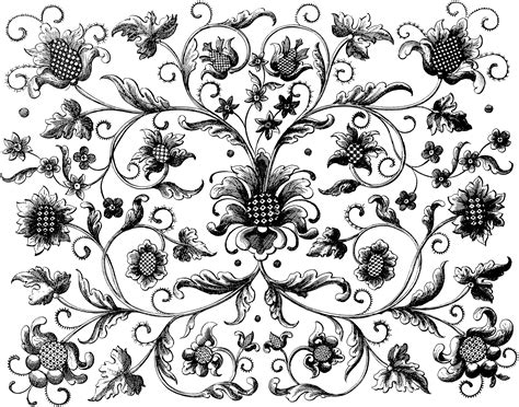 pattern design vector png vintage floral background oh so nifty vintage graphics