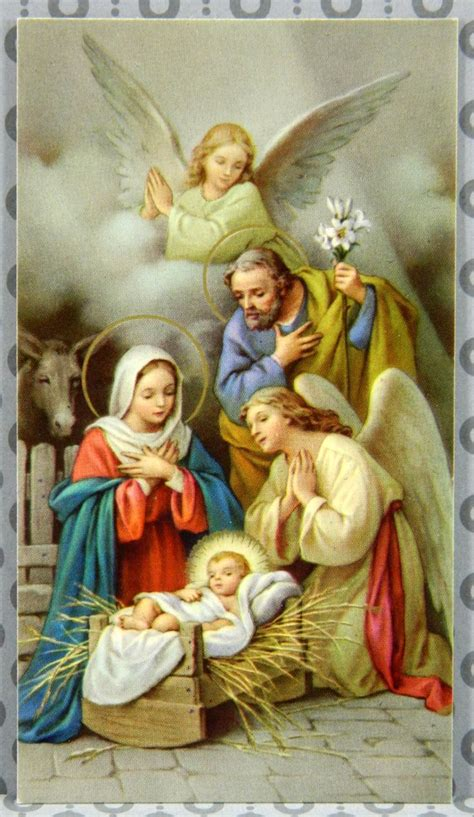 cards with nativity nativity holy family vintage holy card st