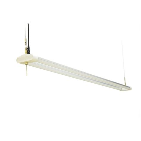 commercial electric 40 in led brushed nickel shop light