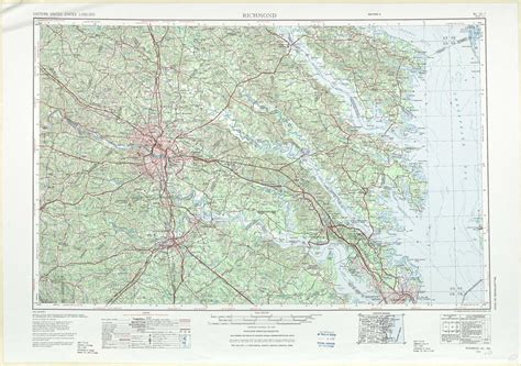 topo map richmond topographic maps va md usgs topo 37076a1 at 1 250 000 scale