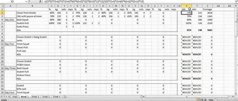 crossfit programming excel spreadsheet spreadsheets