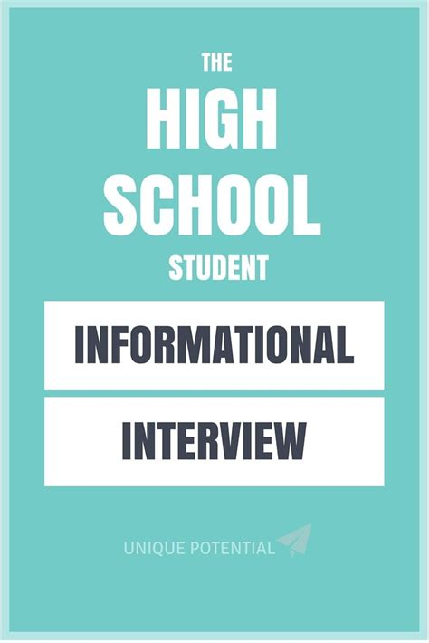 a free high school student informational guide career exploration