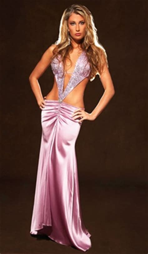 Dress Striper marissa silk gown with sequin top
