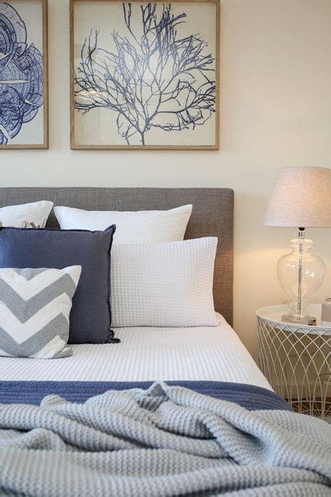 navy blue coastal bedroom design with glossy navy blue shabby chic coastal beach style htons master