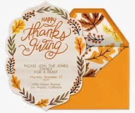 thanksgiving free invitations